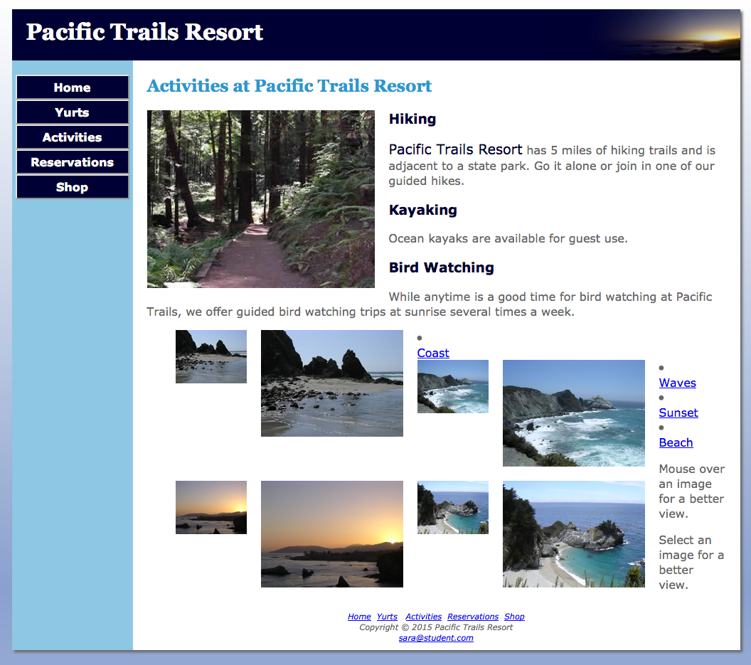 Pacific Trails Resort Chapter  Home Page
